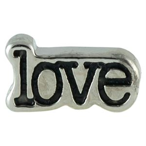 Picture of Love with Black Enamel Charm