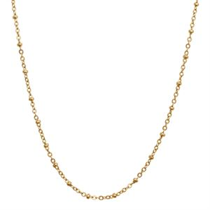 Picture of Nickel-Free Gold Faceted Bead Chain - 32""
