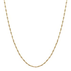 Picture of Gold Elongated Cable Chain - 28""
